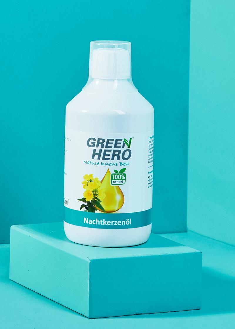 GreenHero® Nachtkerzenöl 500 ml für Hunde und Katzen