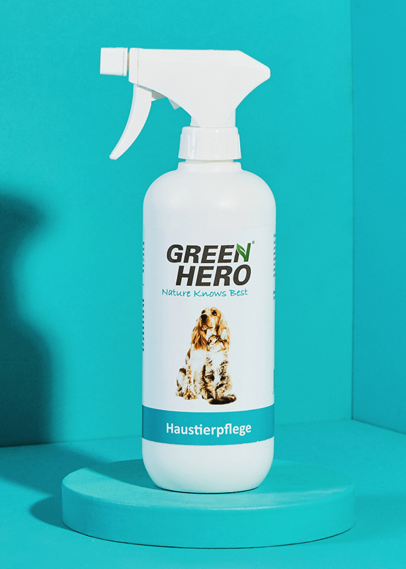 Haustierpflege pflegt die Haut bei Juckreiz und Milben