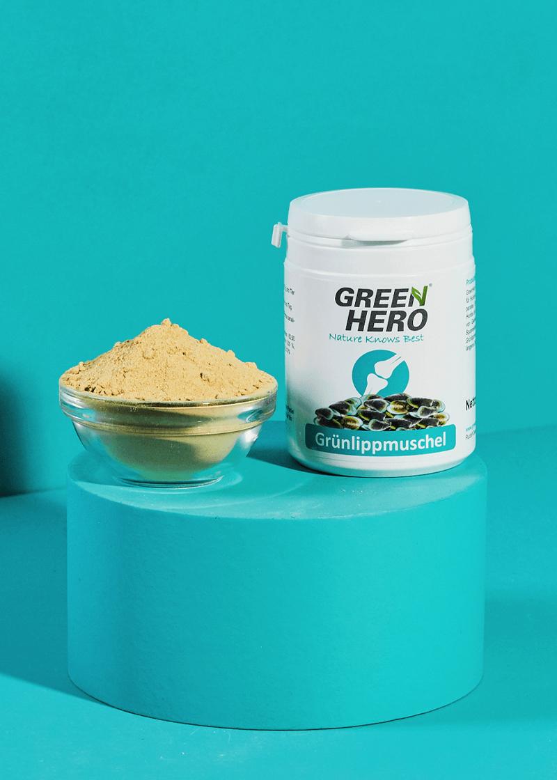 Grünlippmuschel Pulver für Hunde und Katzen