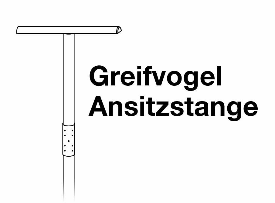 Greifvogel Ansitzstange