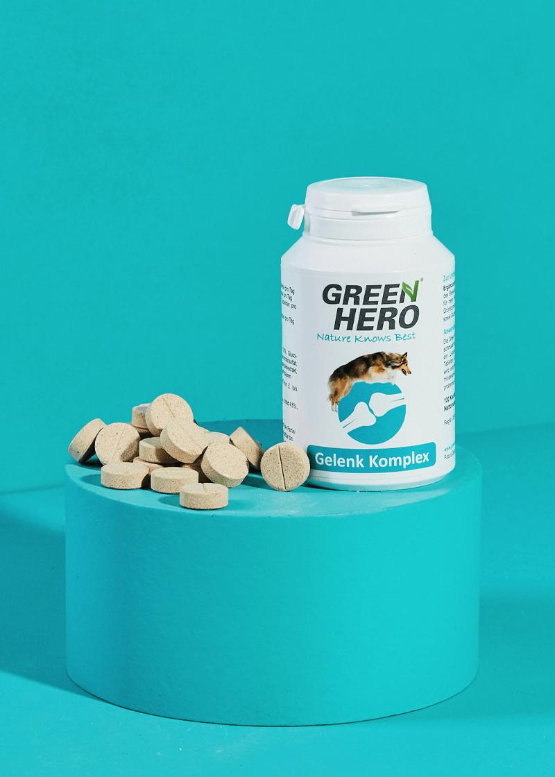 Gelenk-Komplex Gelenktabletten für Hunde mit Grünlippmuschel und Teufelskralle