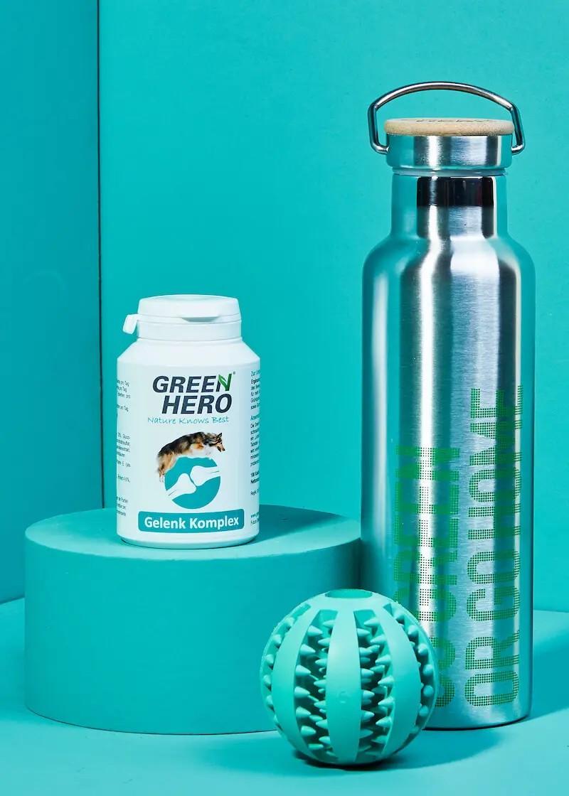 Gelenk Komplex & Zahnpflegeball im Set mit gratis Thermo Trinkflasche