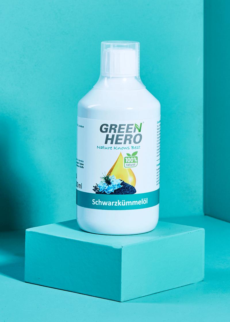 GreenHero® Schwarzkümmelöl 500 ml