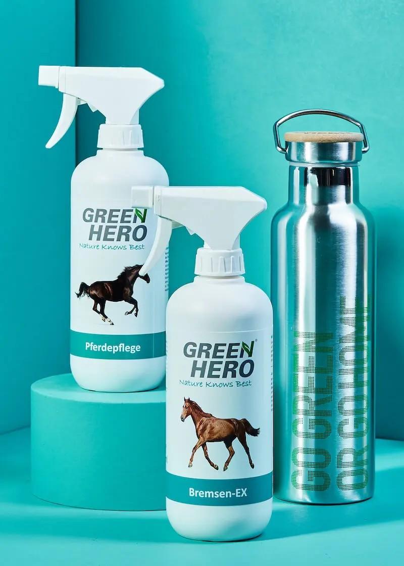 Bremsen-EX & Pferdepflege im Set mit gratis Trinkflasche