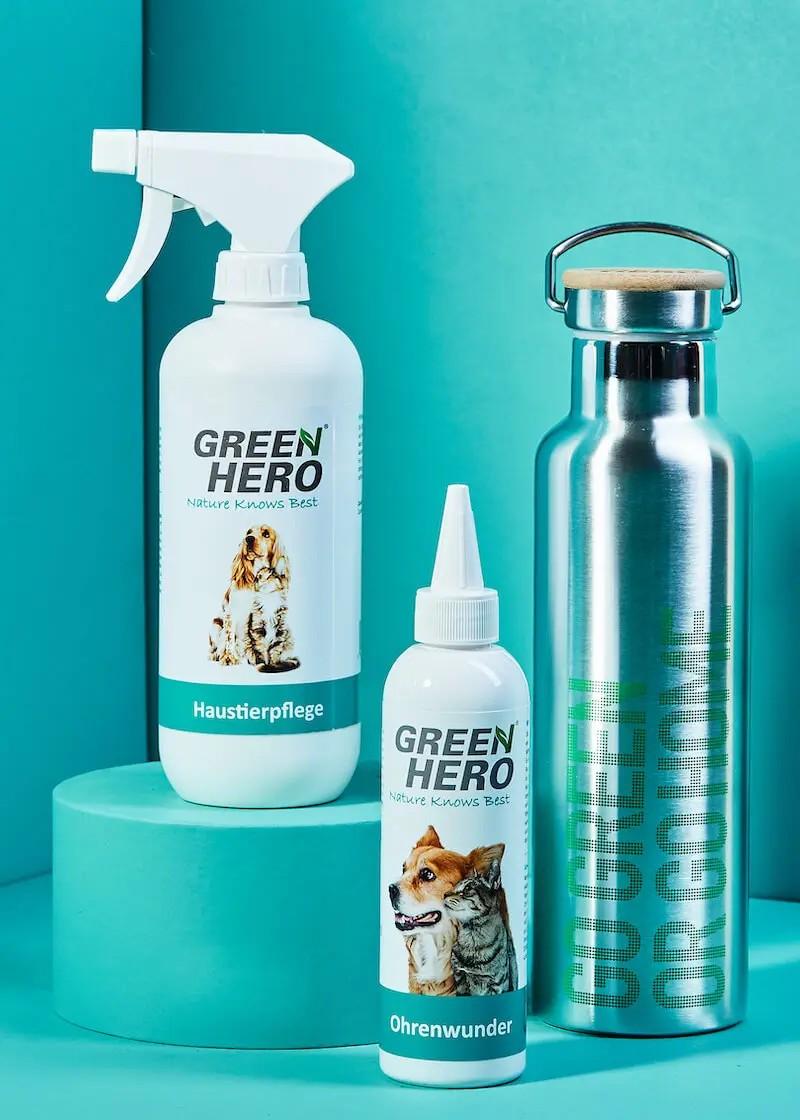 Haustierpflege & Ohrenwunder im Set mit gratis Thermo Trinkflasche