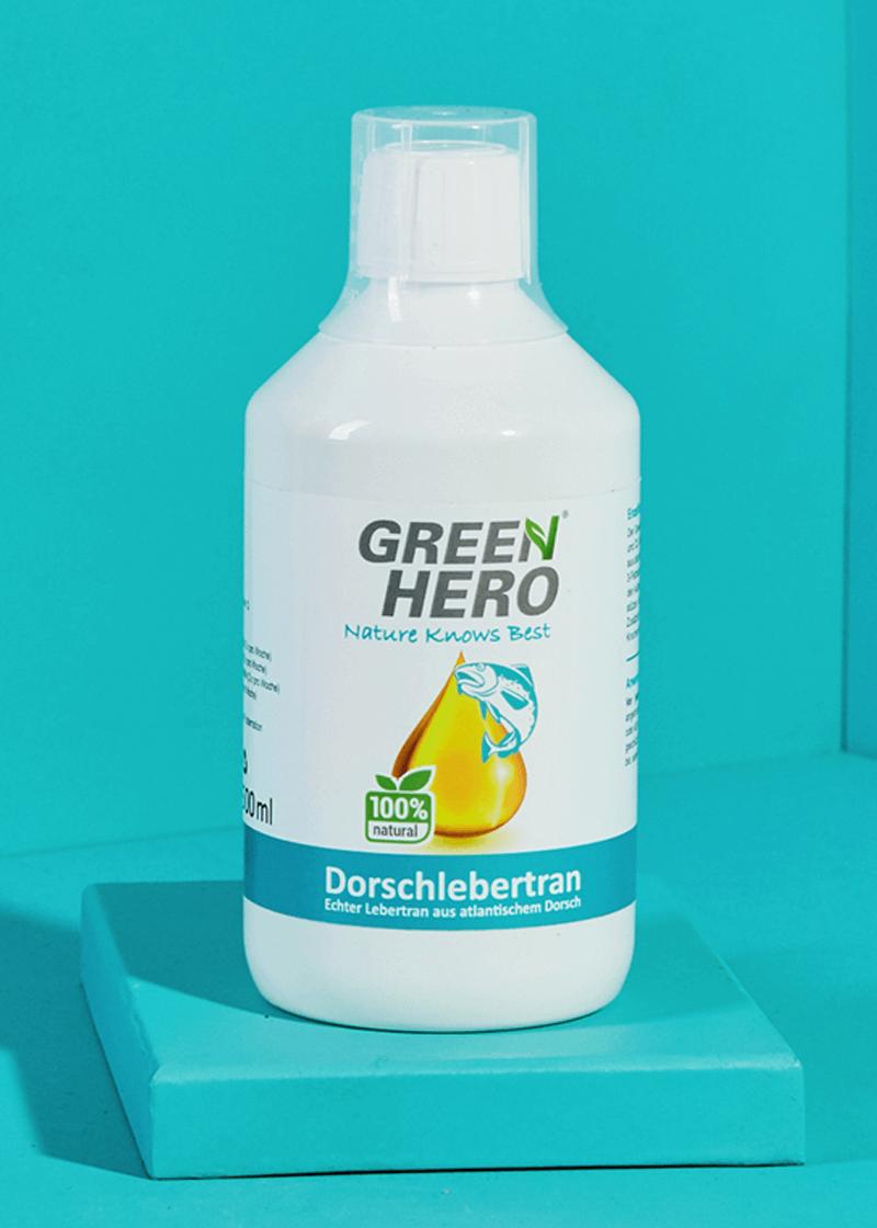 GreenHero® Dorschlebertran 500 ml